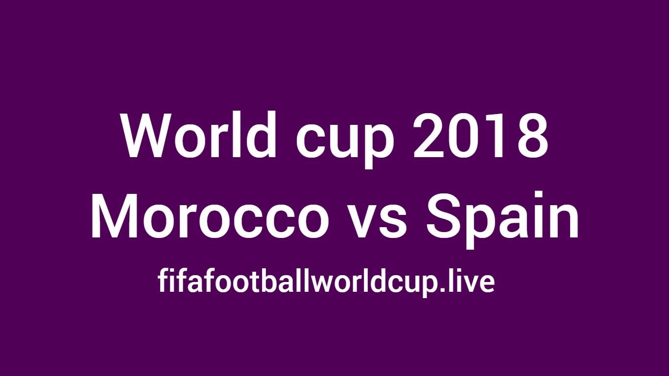 Morocco vs Spain world cup match