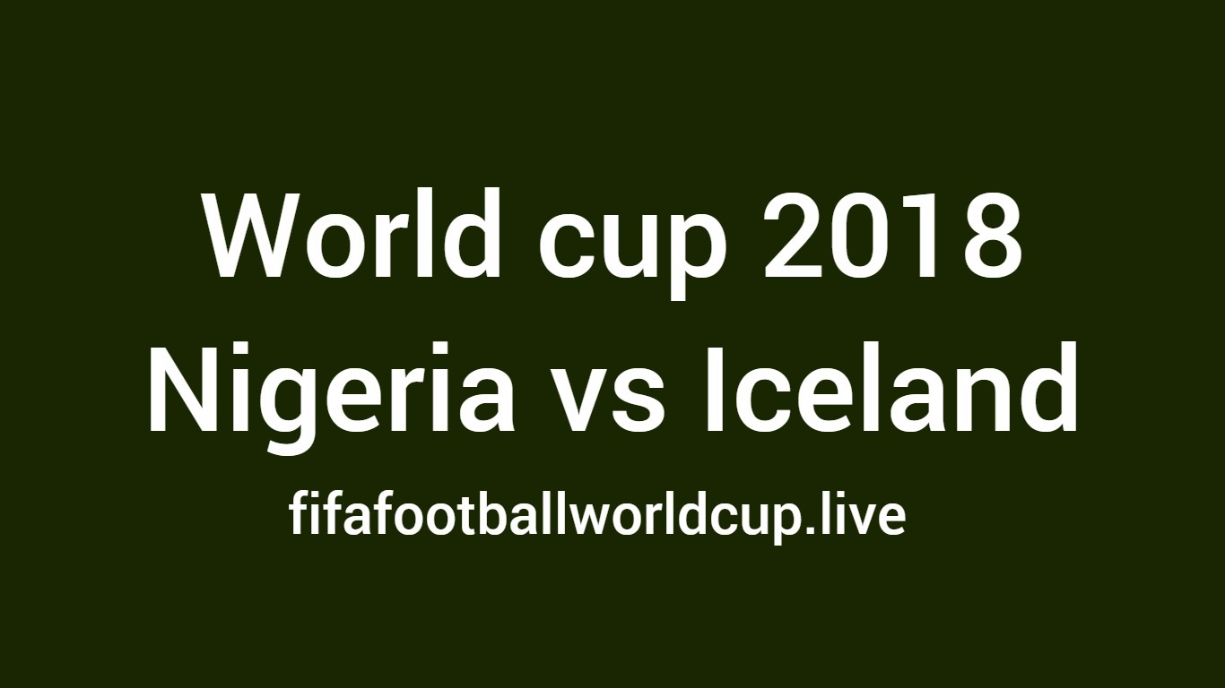 Nigeria vs Iceland football match