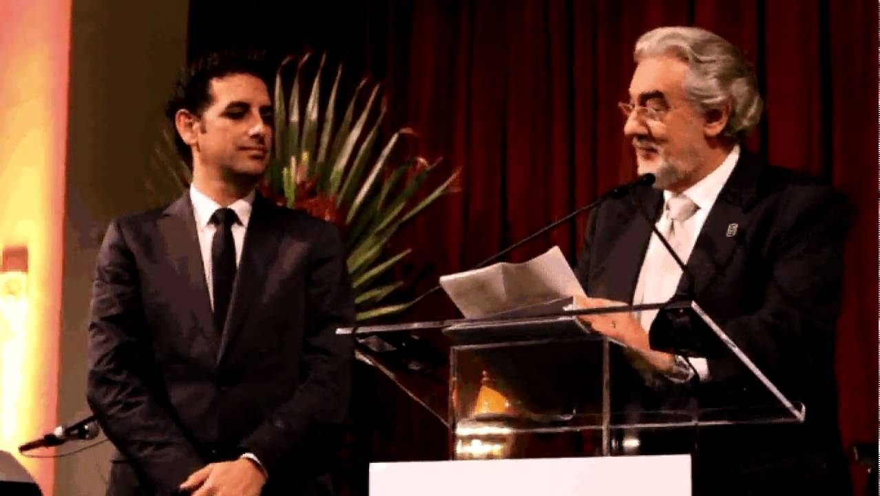 Placido Domingo, Juan Diego Flores wc opening ceremony performer