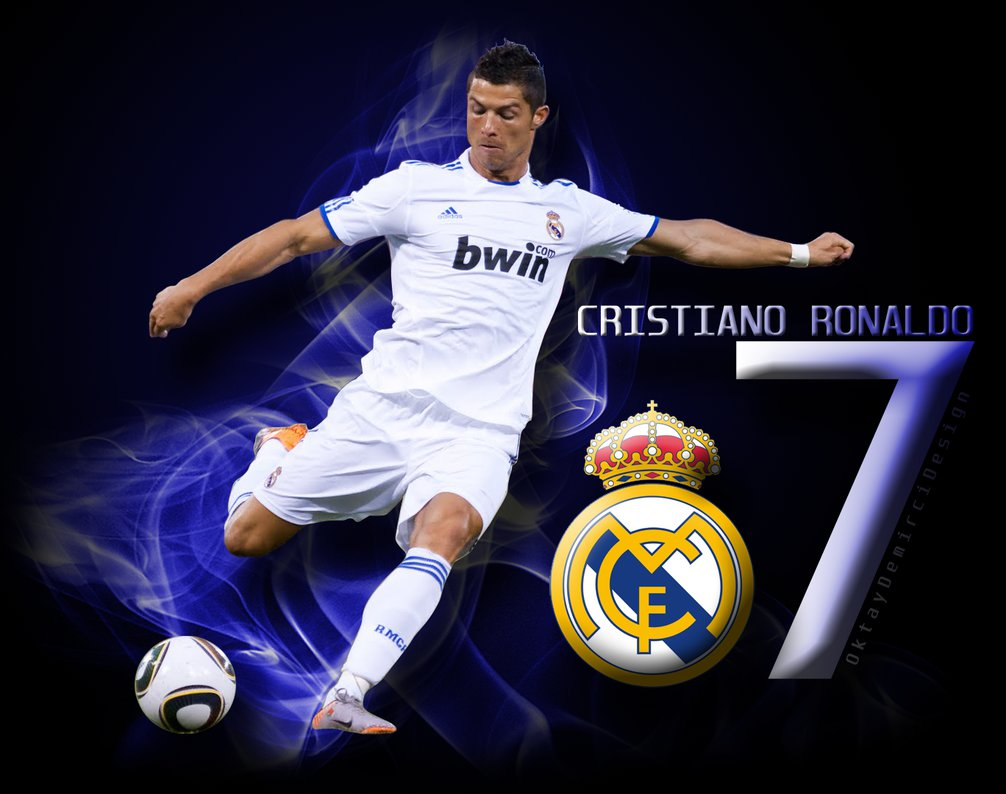 Ronaldo wallpaper ith blue background