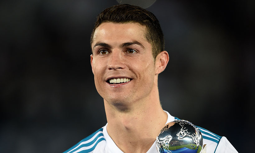 Ronaldo with smilling face