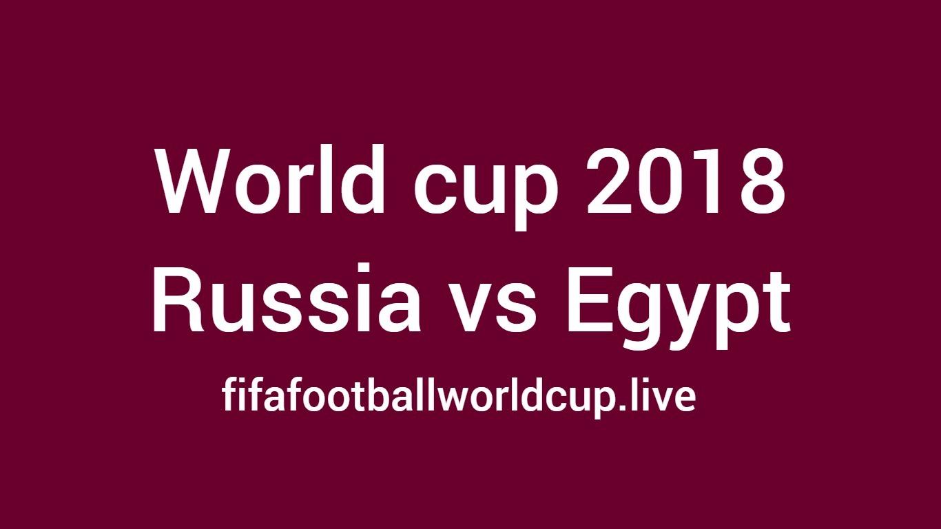 Russia vs Egypt Football Match