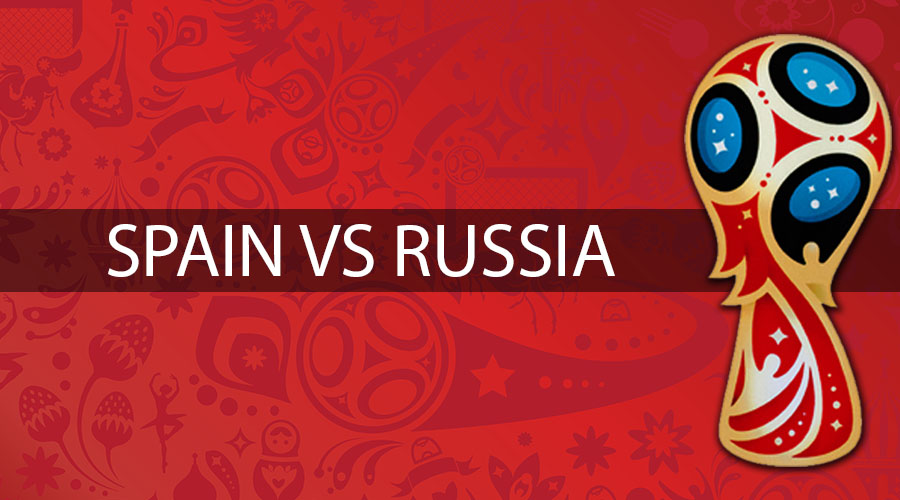 Russia vs Spain football battle