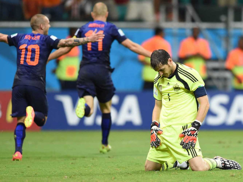Spain lost 2014 world cup opening match against Netherlands