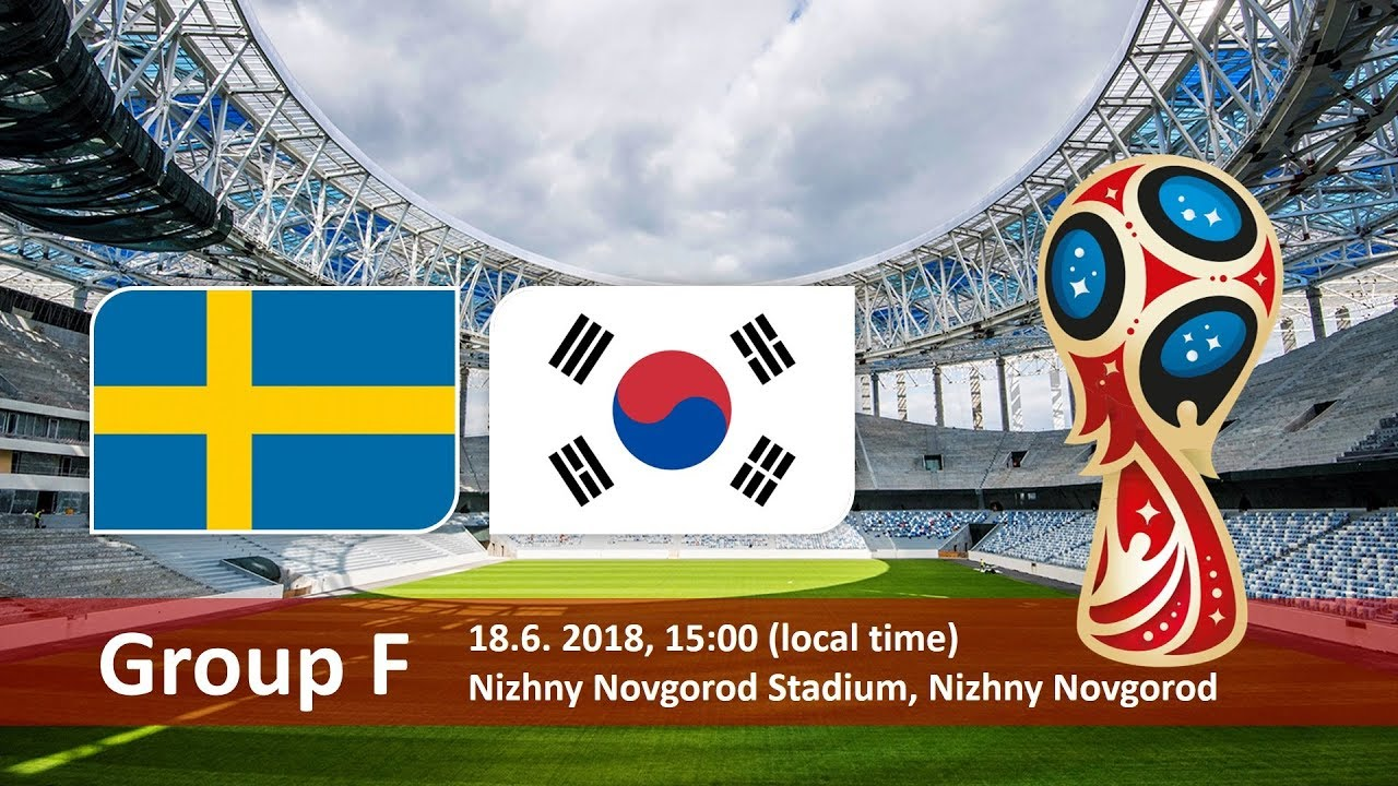 Sweden vs South Korea 2018 world cup football Game of 18 June