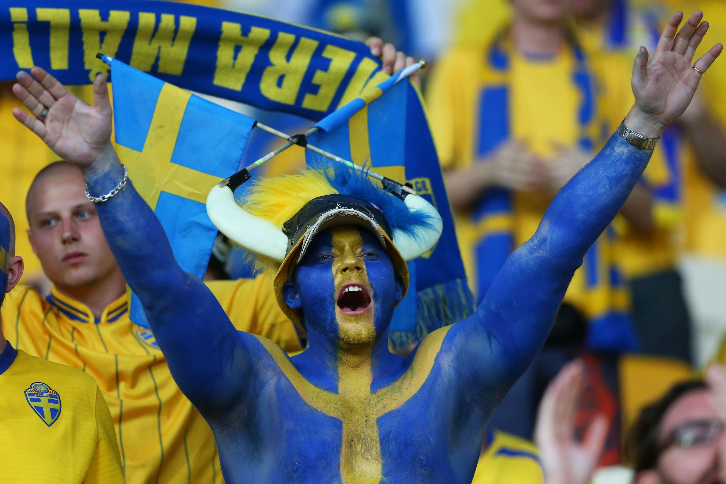 Swedish fans ready to boost confident of nation