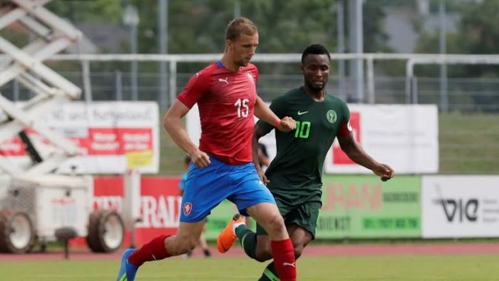 Tomas Kalas scores a goal in world cup friendly against nigeria