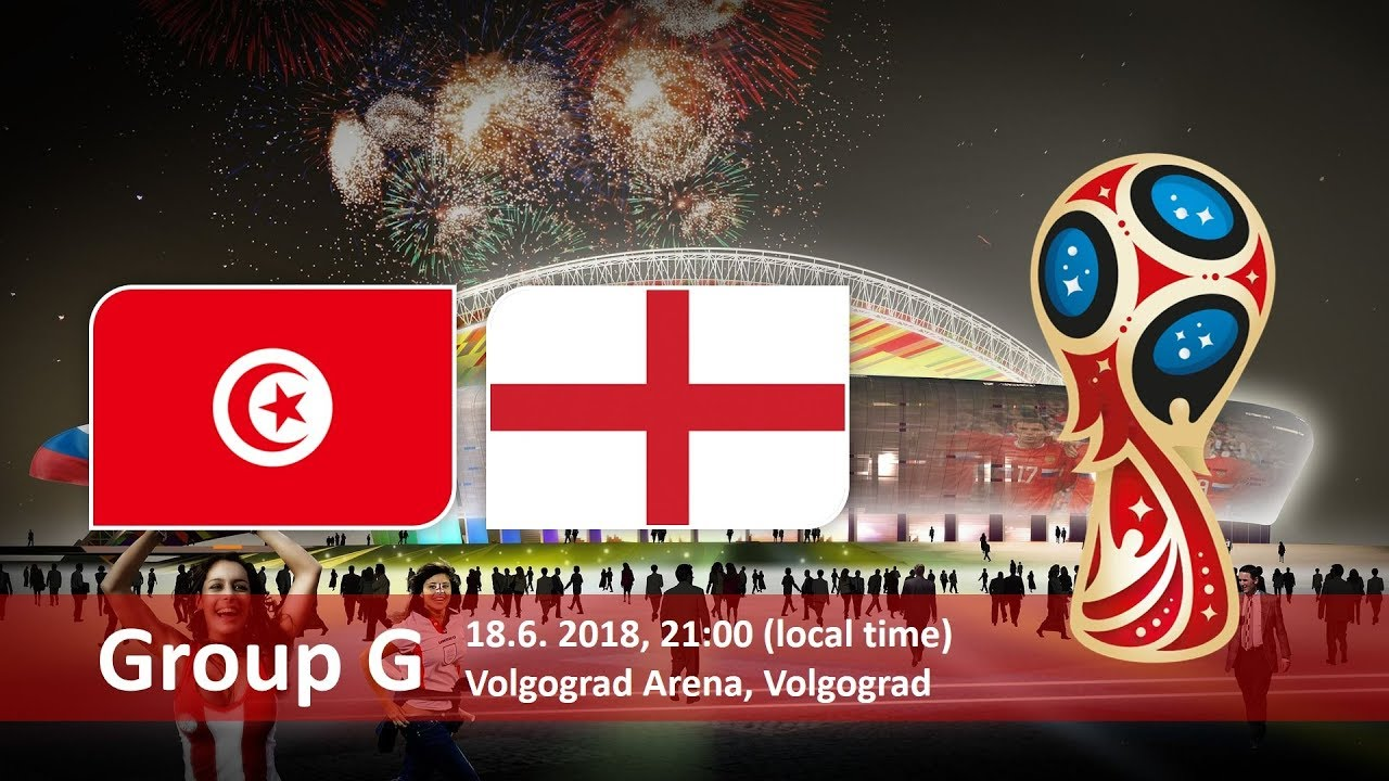 Tunisia vs England 2018 world cup football Game of 18 June
