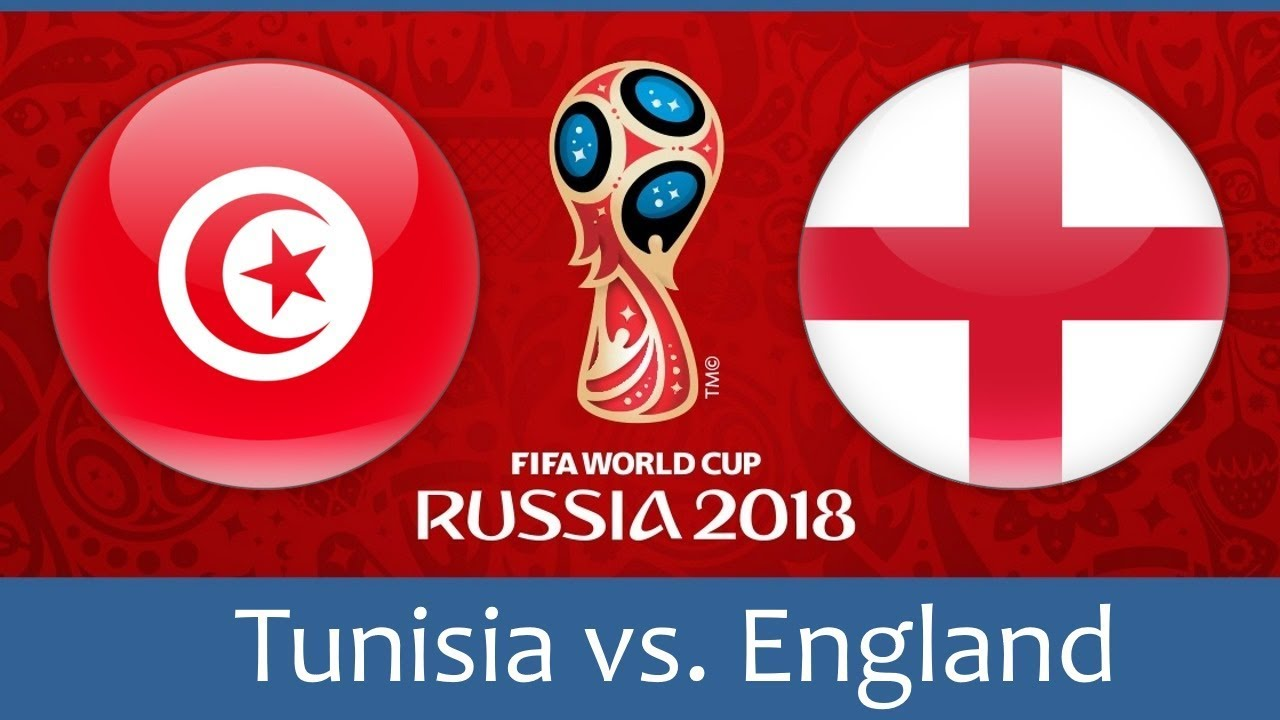 Tunisia vs England world cup match hd photos with both team flag