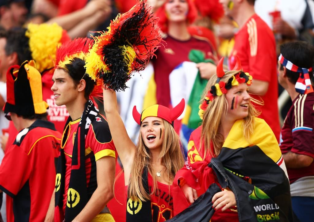 belgium fans ready to boost confident of nation in football match
