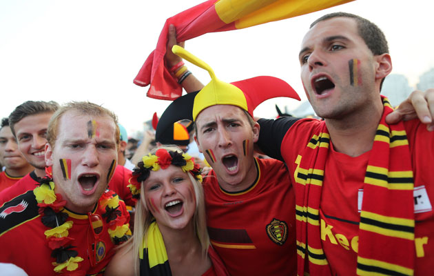 belgium football fans ready to cheer their nation in world cup tournament