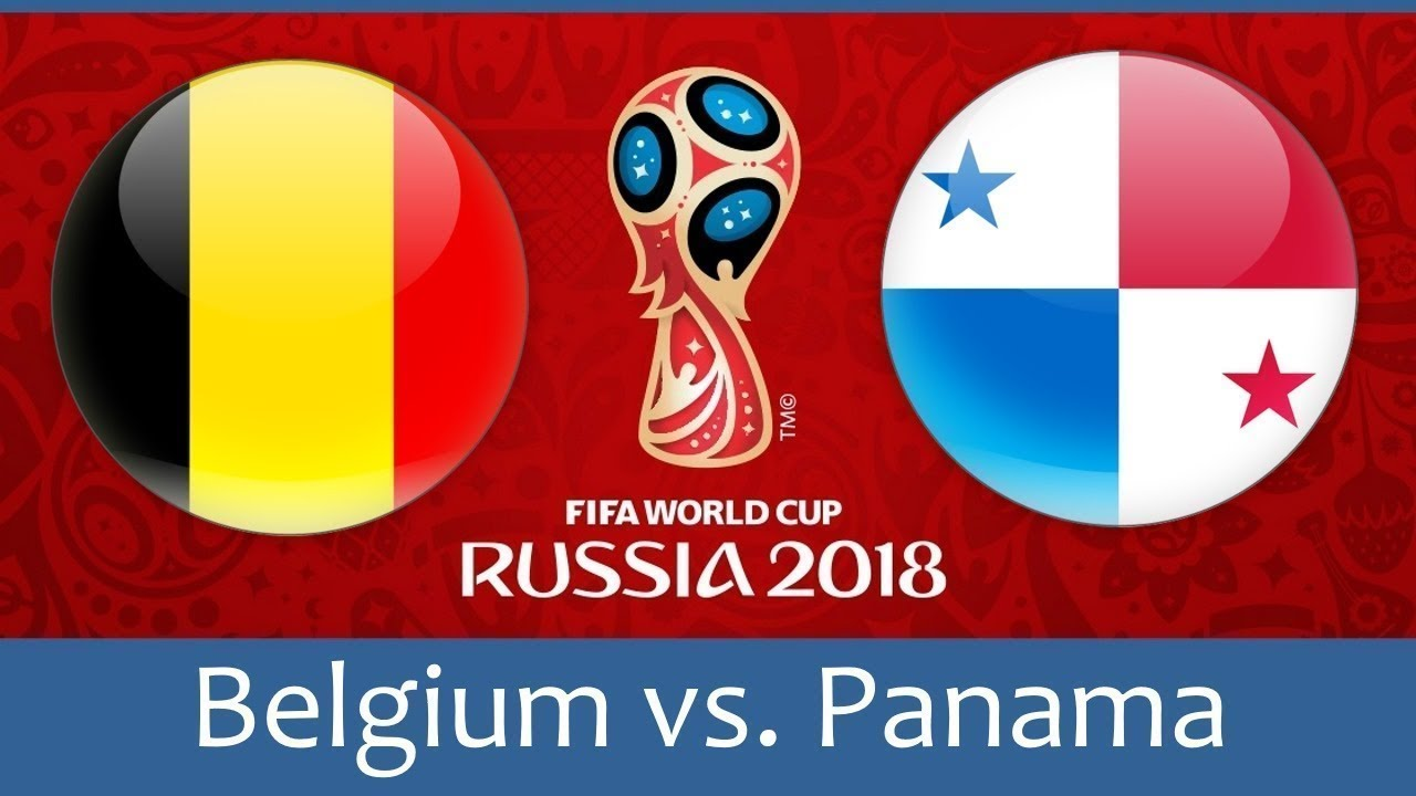 belgium vs panama world cup match hd photos with both team flag