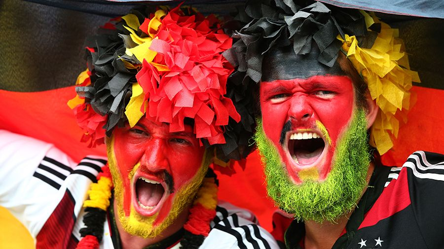 crazy looking German fans