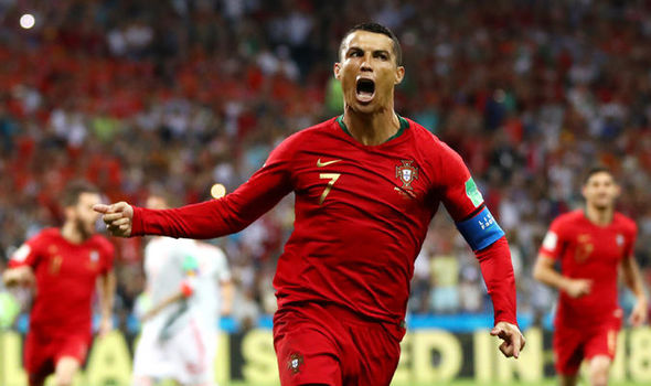ronaldo hat-trick help portugal to draw against spain