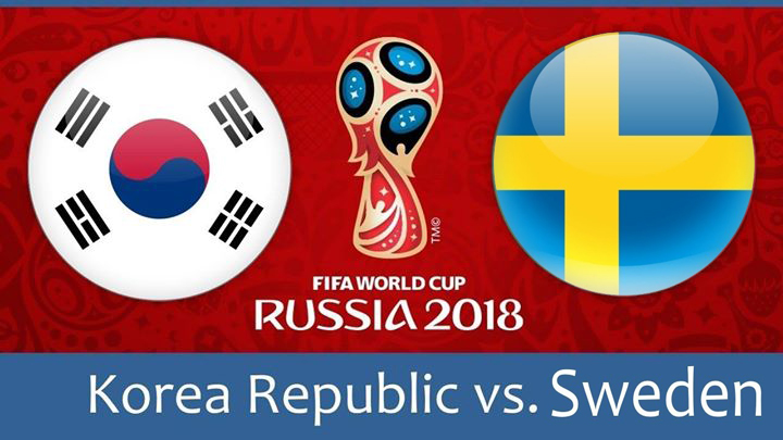 sweden vs south korea world cup match hd photos with both team flag
