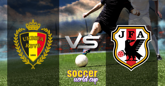 Belgium vs Japan football match