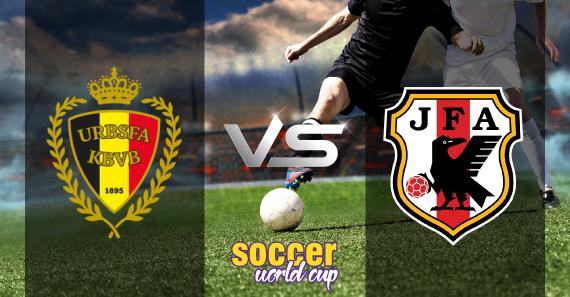Belgium vs Japan football match