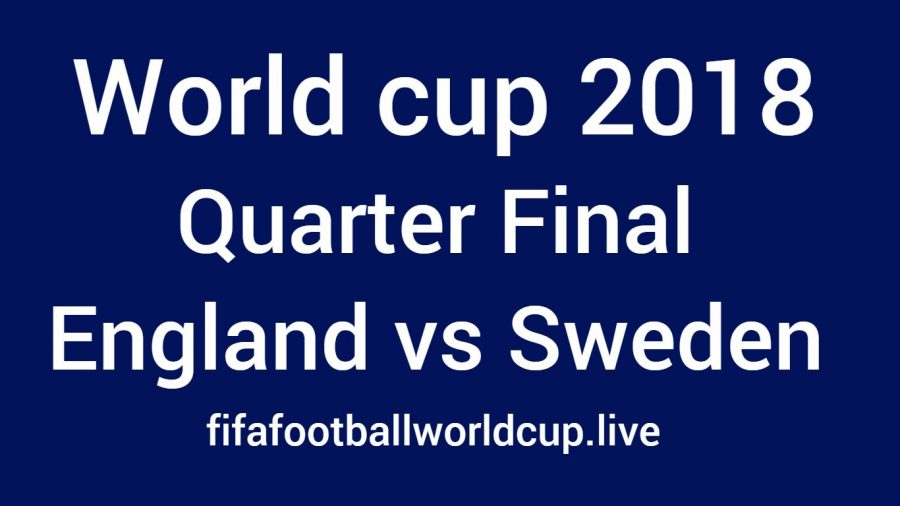 England vs Sweden football world cup quarter final match