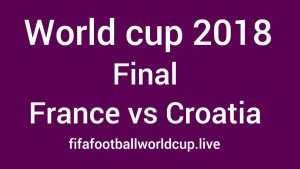 France vs Croatia Final Live Streaming, Telecast channels Timing World cup 15 July Match