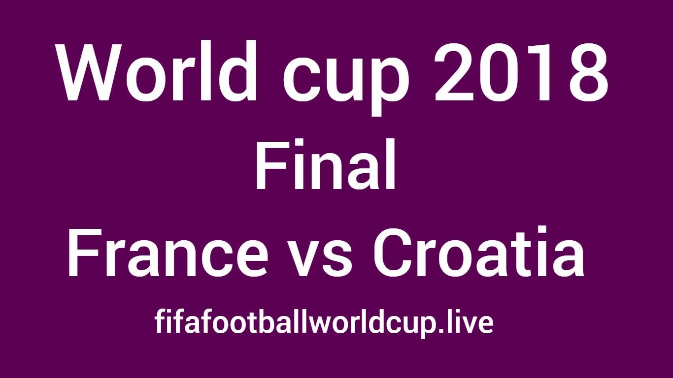 France vs Croatia final world cup match 15 july 2018