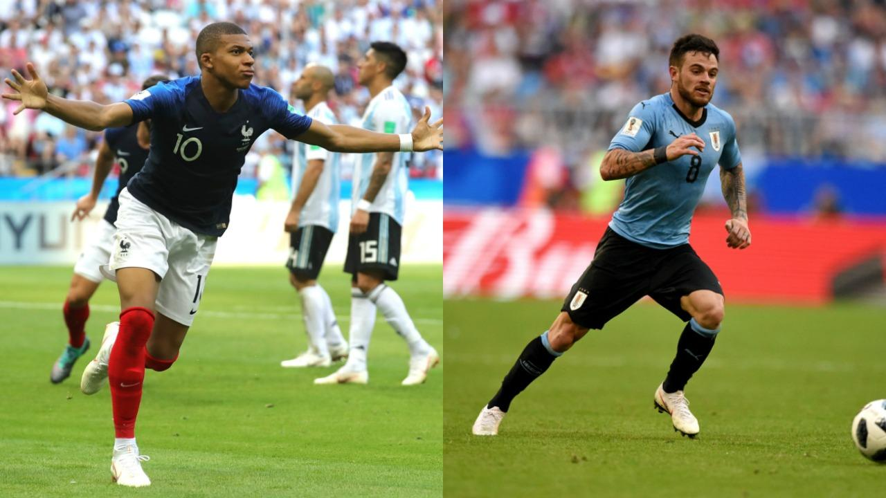 France vs Uruguay today quarter final match