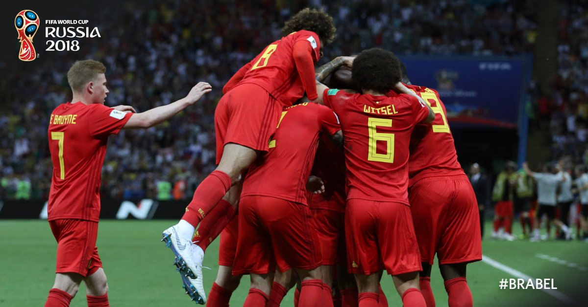 In Quarter Final Belgium beat Brazil to enter the semi final of world cup 2018
