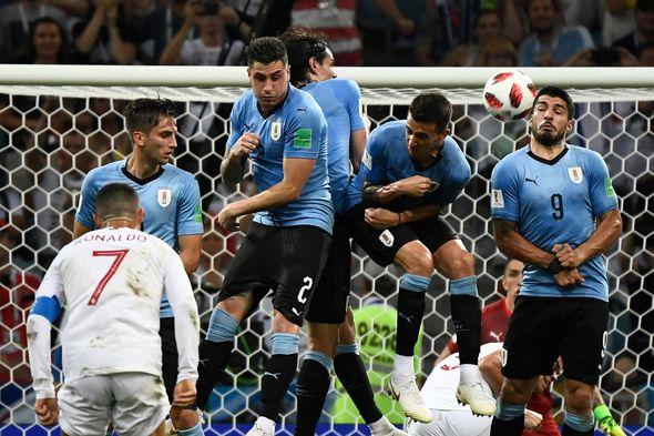 Portugal vs Uruguay round of 16 match